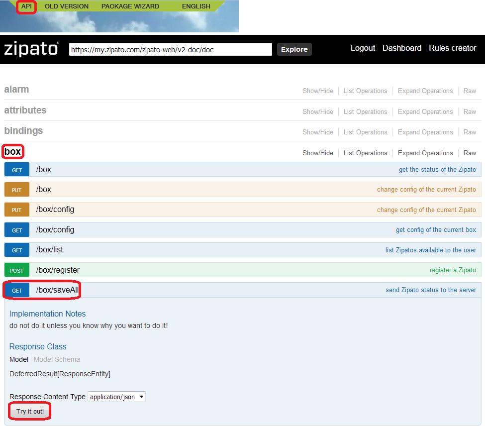 Zipabox API